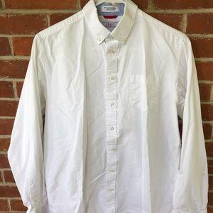 Izod long sleeved button up dress shirt